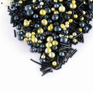 Gold Schwarze Sprinkles