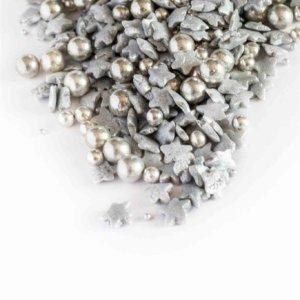 Silberne Perlen