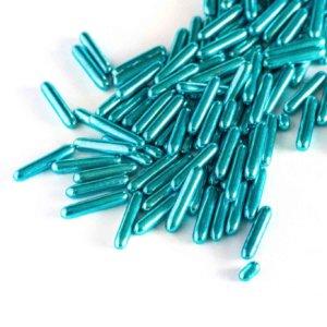 Metallisch-blaue Zucker-Stabe
