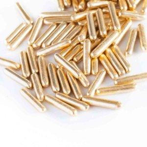 Metallisch goldene Zucker-Stabe